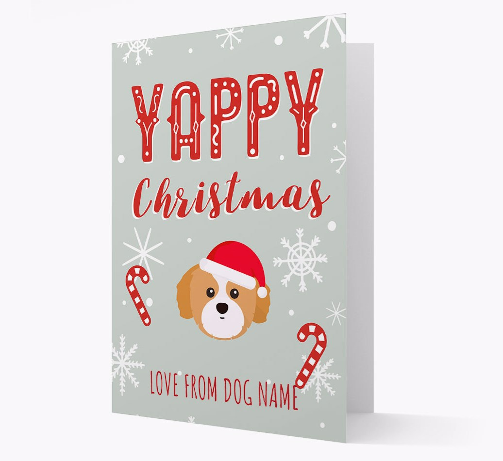 Personalised 'Yappy Christmas' Card with Shih Tzu Christmas Icon