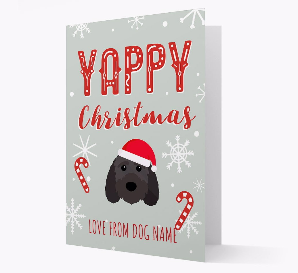 Personalised 'Yappy Christmas' Card with Sproodle Christmas Icon