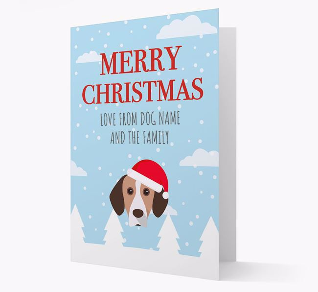 'Love from the Family' Christmas Card with your Bavarian Mountain Hound Christmas Icon
