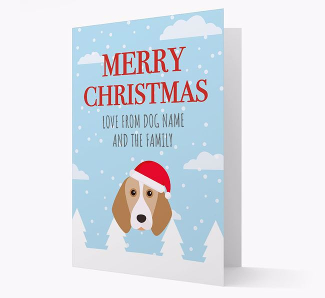 'Love from the Family' Christmas Card with your Beagle Christmas Icon