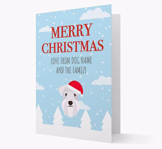 'Love from the Family' Christmas Card with your Cesky Terrier Christmas Icon