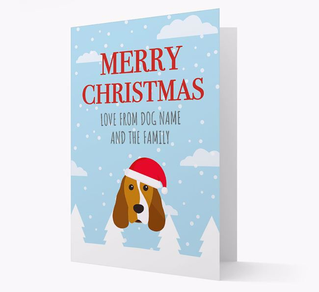 'Love from the Family' Christmas Card with your Cocker Spaniel Christmas Icon