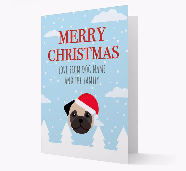 'Love from the Family' Christmas Card with your Frug Christmas Icon