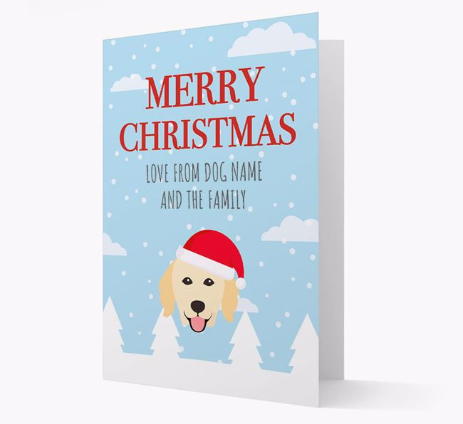 'Love from the Family' Christmas Card with your Hovawart Christmas Icon