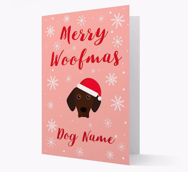 'Merry Woofmas Your Dog' Card with your Bavarian Mountain Hound Christmas Icon