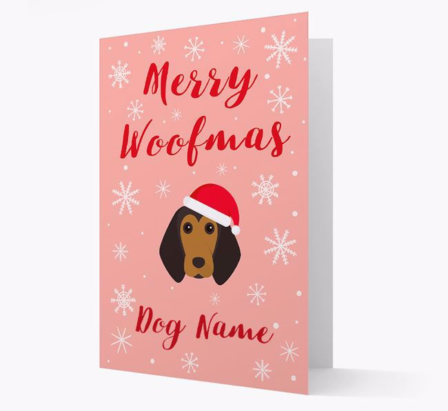 'Merry Woofmas Your Dog' Card with your Beagle Christmas Icon