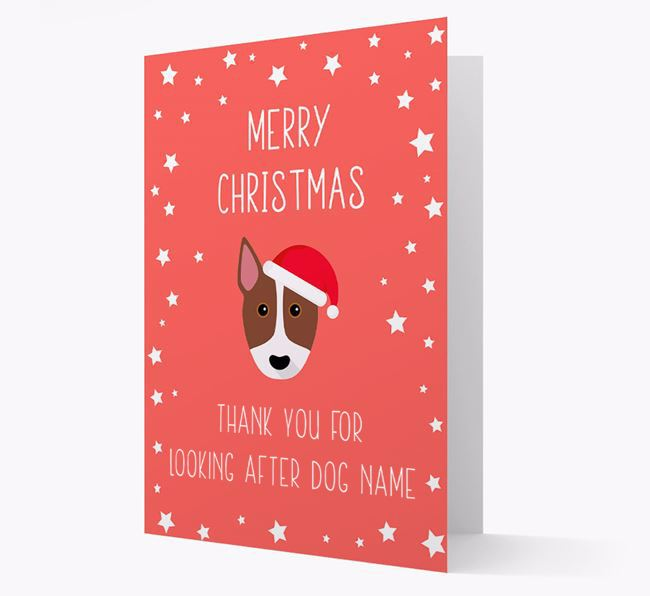 'Thank You' Christmas Card with your Bull Terrier Christmas Icon
