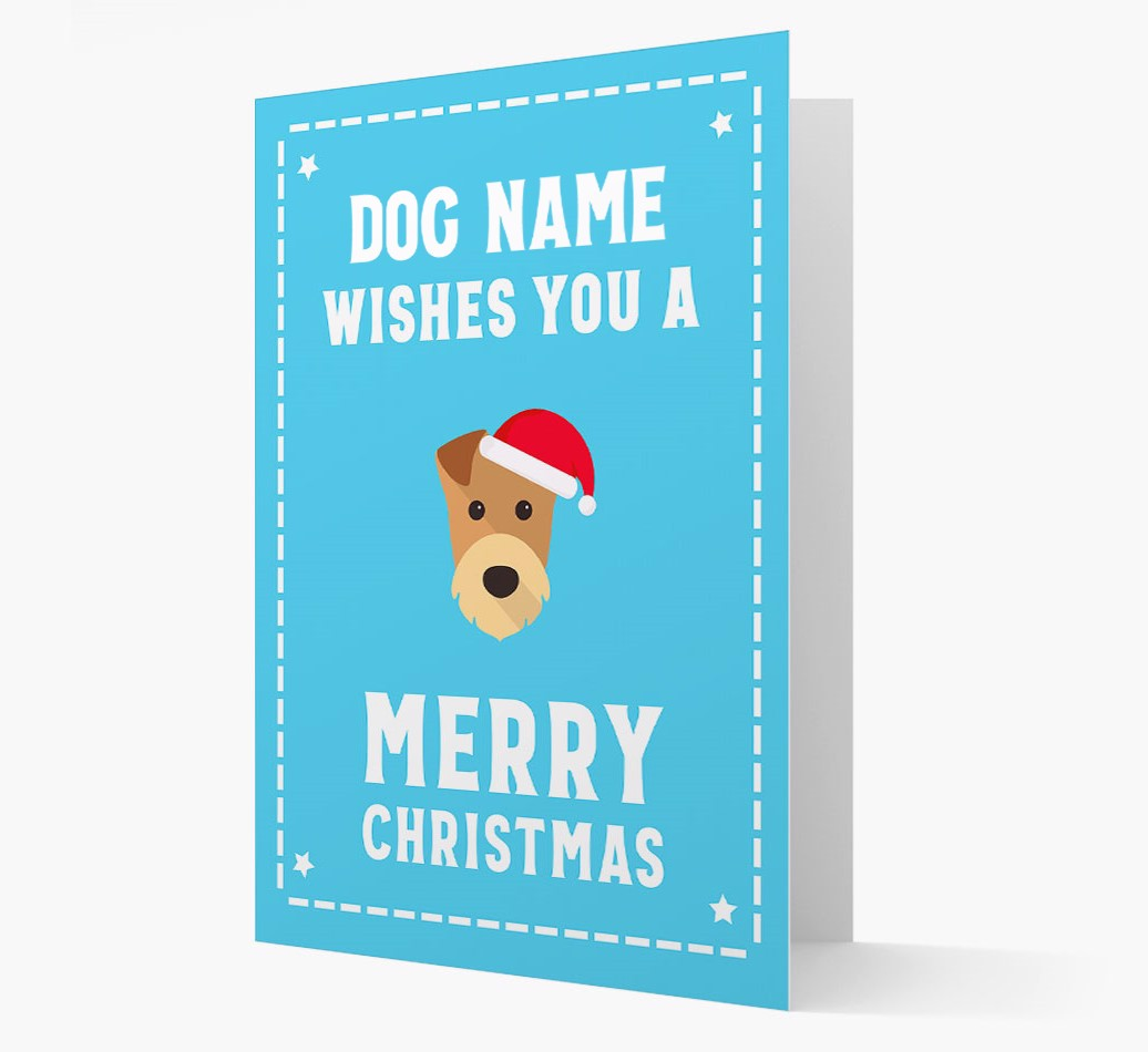 'Christmas Wishes' Card with your Airedale Terrier Christmas Icon