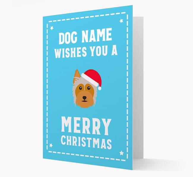 'Christmas Wishes' Card with your Australian Silky Terrier Christmas Icon