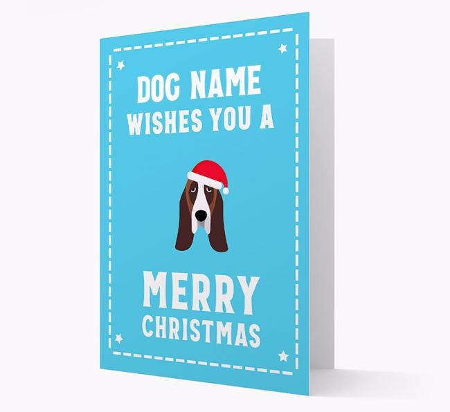 'Christmas Wishes' Card with your Basset Hound Christmas Icon