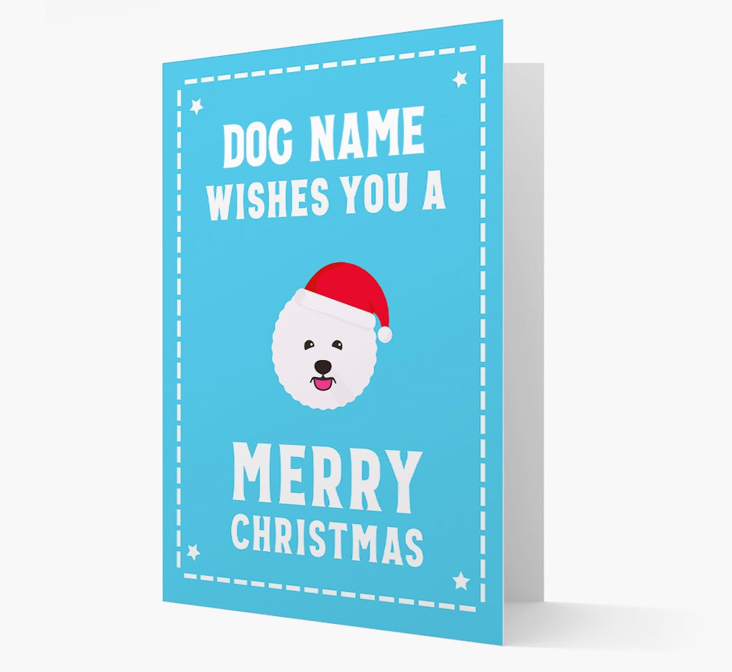 'Christmas Wishes' Card with your Bichon Frise Christmas Icon