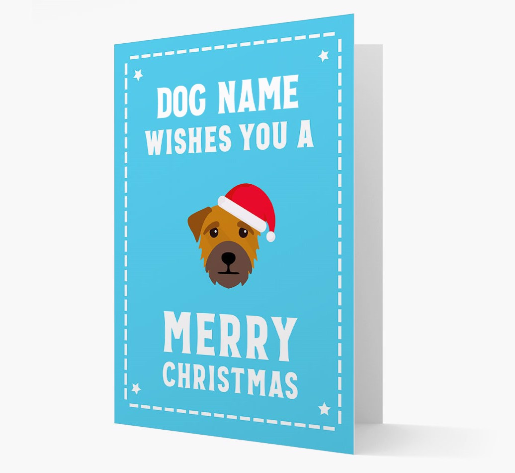'Christmas Wishes' Card with your Border Terrier Christmas Icon