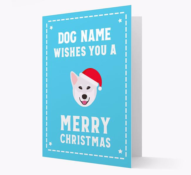 'Christmas Wishes' Card with your Canadian Eskimo Dog Christmas Icon