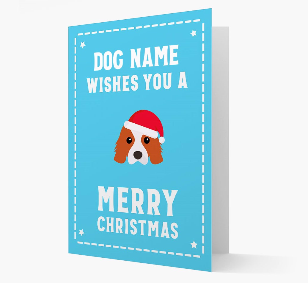 'Christmas Wishes' Card with your Cavalier King Charles Spaniel Christmas Icon