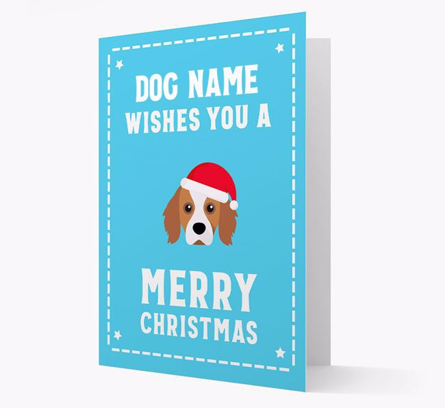 'Christmas Wishes' Card with your Cavapom Christmas Icon