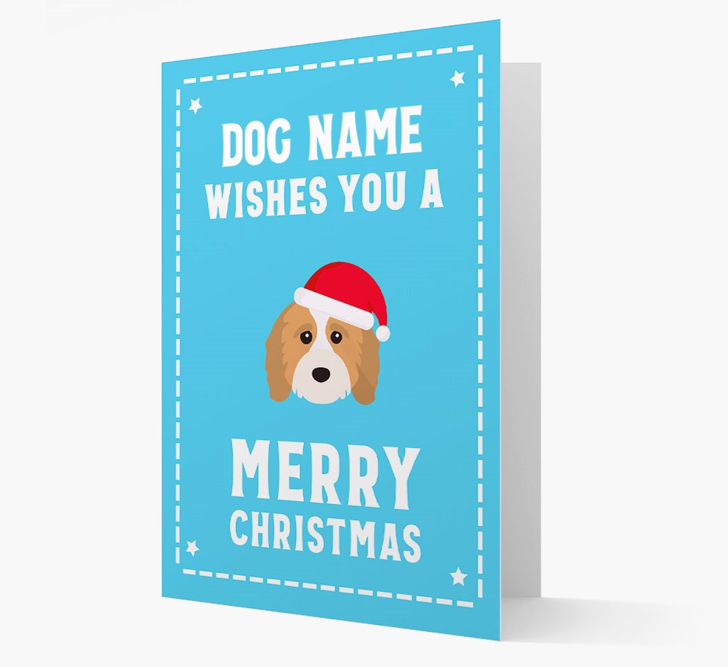 'Christmas Wishes' Card with your Cavapoo Christmas Icon