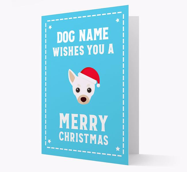 'Christmas Wishes' Card with your Chihuahua Christmas Icon