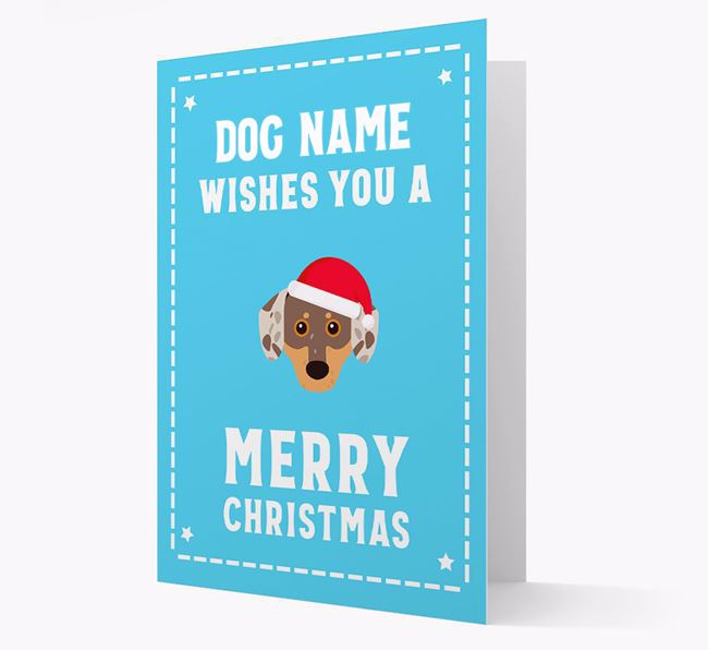 'Christmas Wishes' Card with your Chiweenie Christmas Icon