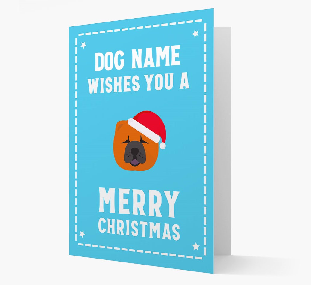 'Christmas Wishes' Card with your Chow Chow Christmas Icon