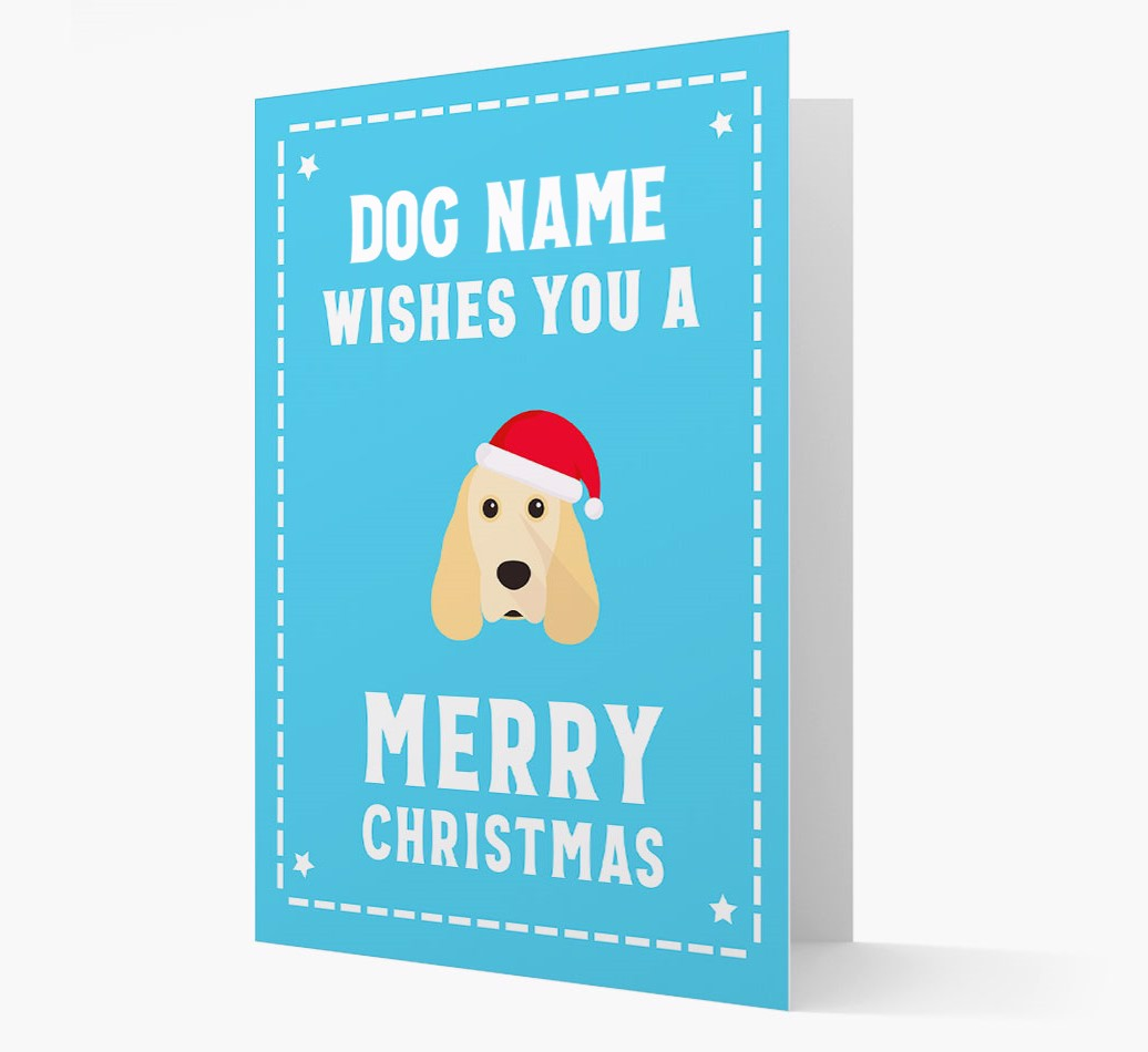 'Christmas Wishes' Card with your Cocker Spaniel Christmas Icon