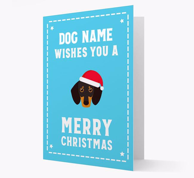 'Christmas Wishes' Card with your Dog Christmas Icon