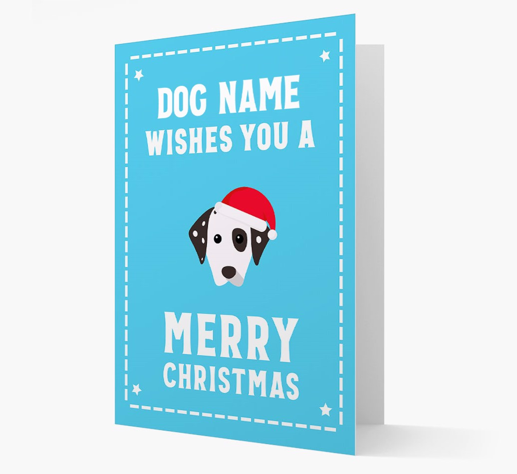 'Christmas Wishes' Card with your Dalmatian Christmas Icon