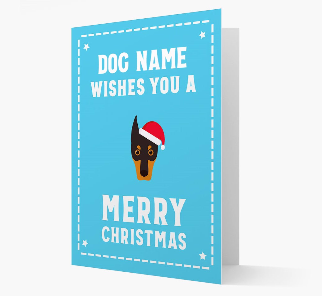 'Christmas Wishes' Card with your Dobermann Christmas Icon
