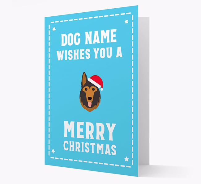 'Christmas Wishes' Card with your German Shepherd Christmas Icon