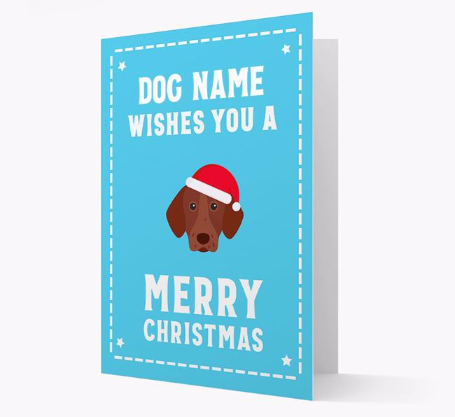 'Christmas Wishes' Card with your German Shorthaired Pointer Christmas Icon