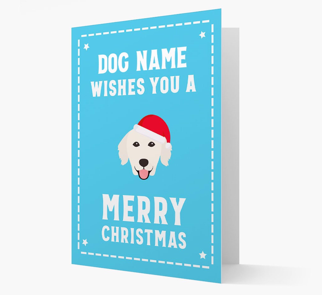 'Christmas Wishes' Card with your Golden Retriever Christmas Icon