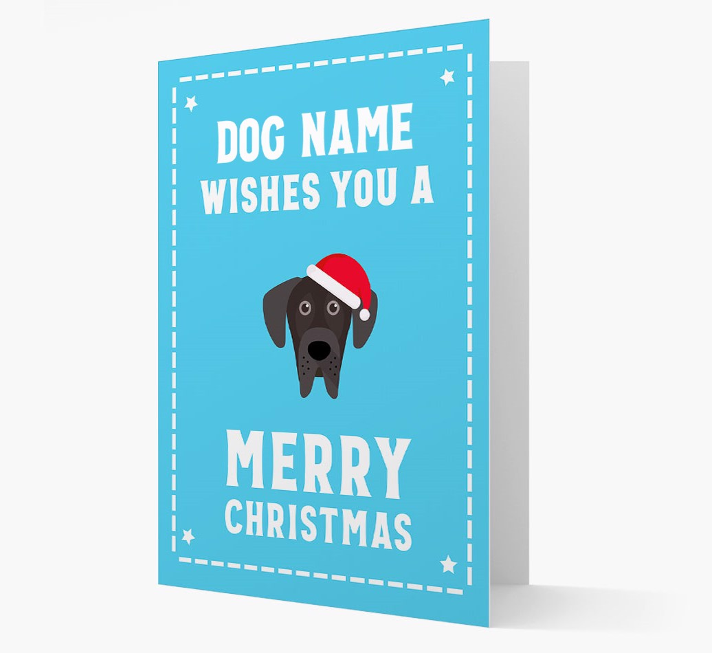 'Christmas Wishes' Card with your Great Dane Christmas Icon