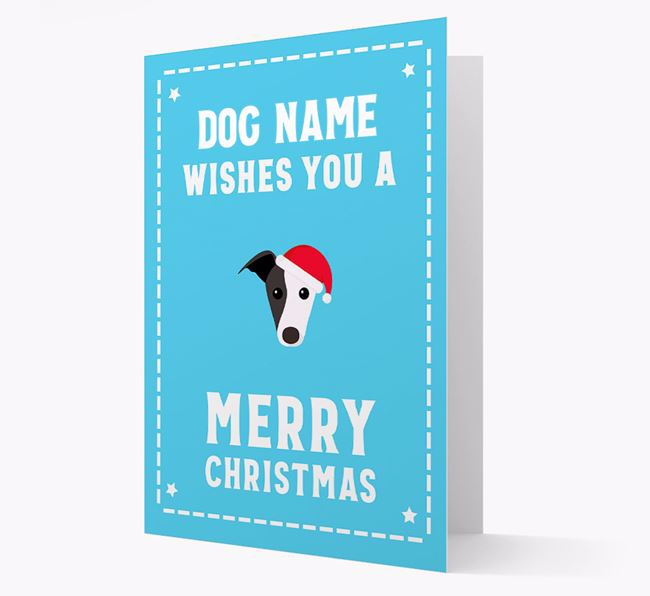 'Christmas Wishes' Card with your Greyhound Christmas Icon