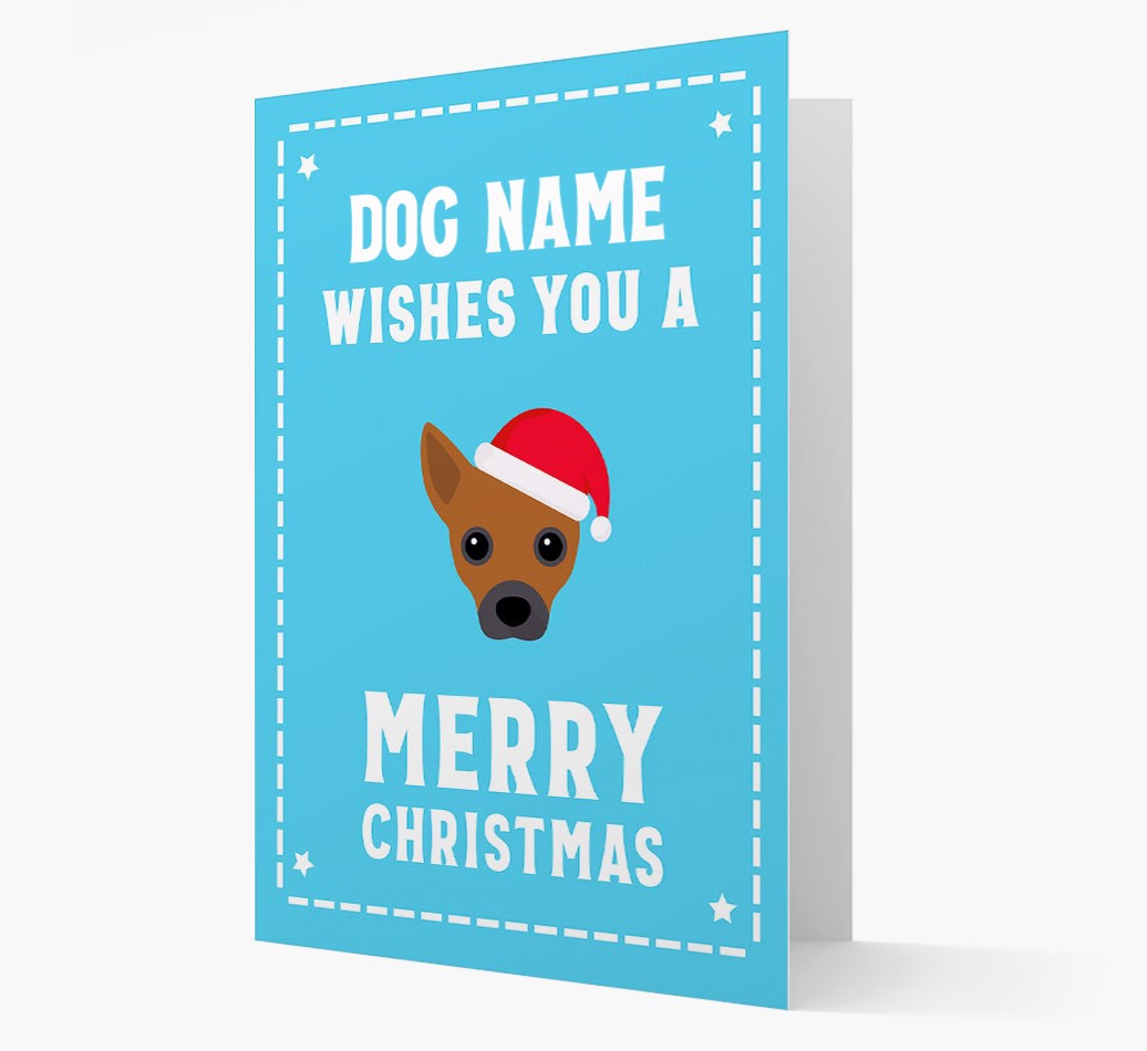 'Christmas Wishes' Card with your Jackahuahua Christmas Icon