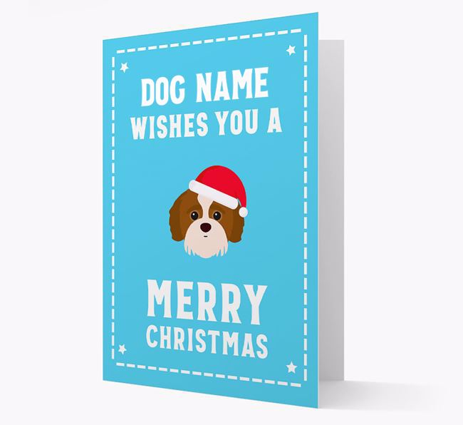 'Christmas Wishes' Card with your Jack-A-Poo Christmas Icon