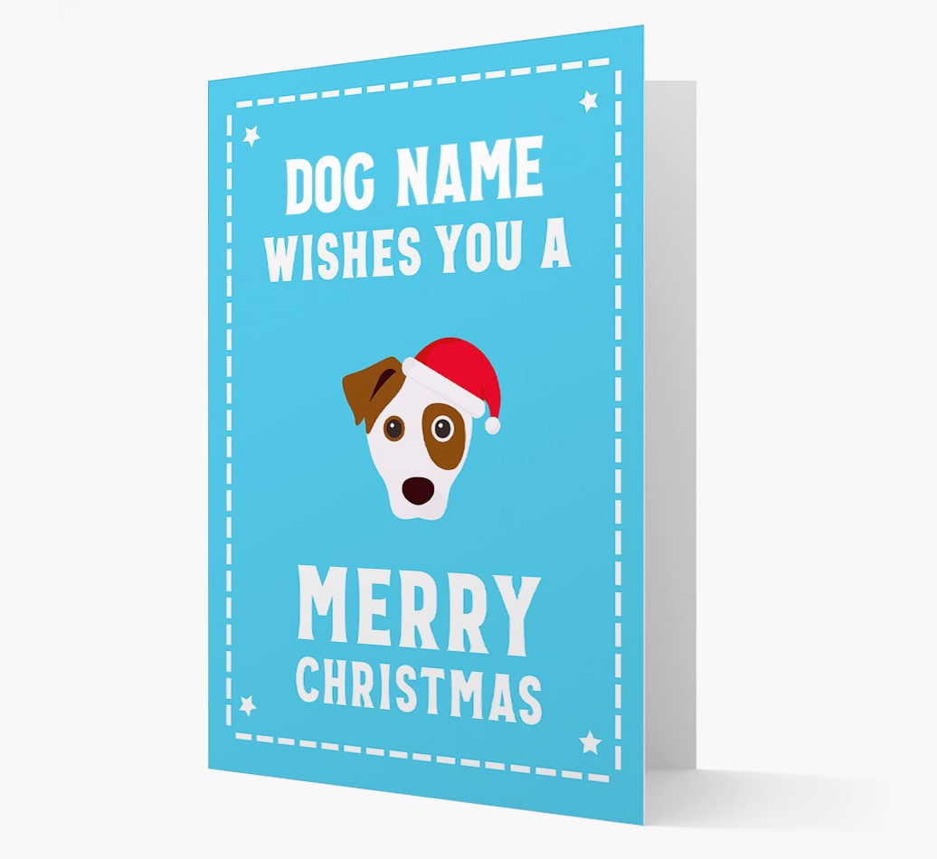 'Christmas Wishes' Card with your Jack Russell Terrier Christmas Icon