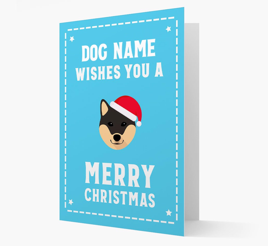 'Christmas Wishes' Card with your Japanese Shiba Christmas Icon