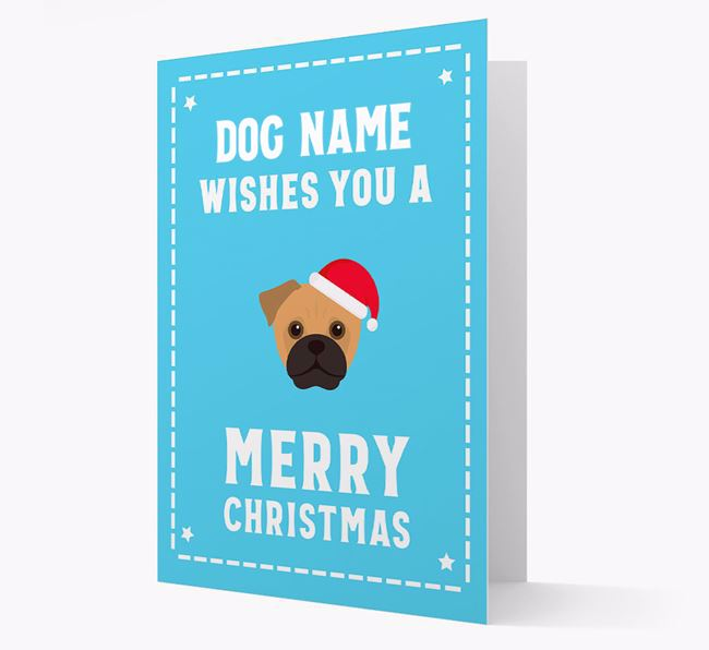 'Christmas Wishes' Card with your Jug Christmas Icon