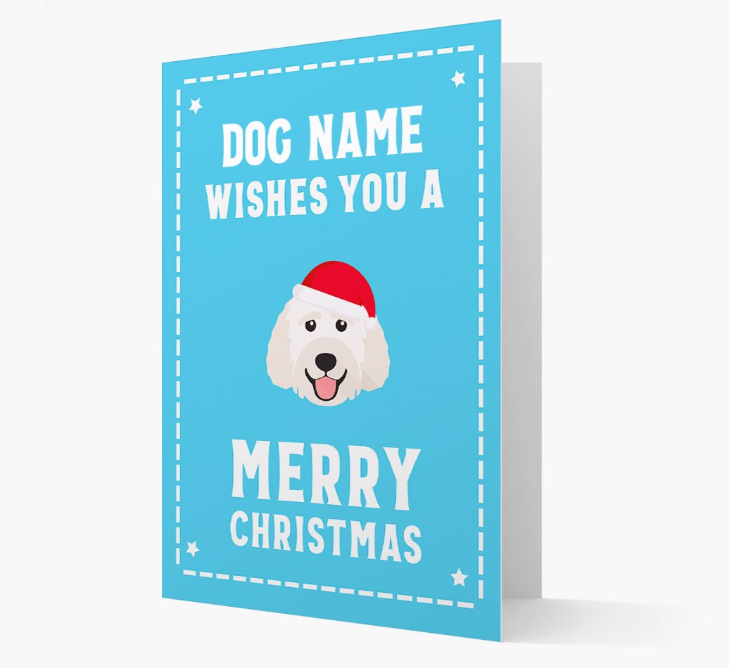 'Christmas Wishes' Card with your Labradoodle Christmas Icon