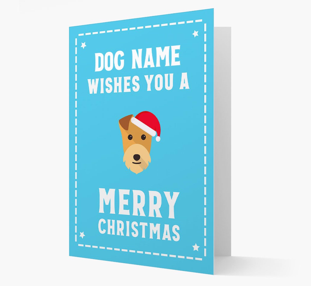 'Christmas Wishes' Card with your Lakeland Terrier Christmas Icon