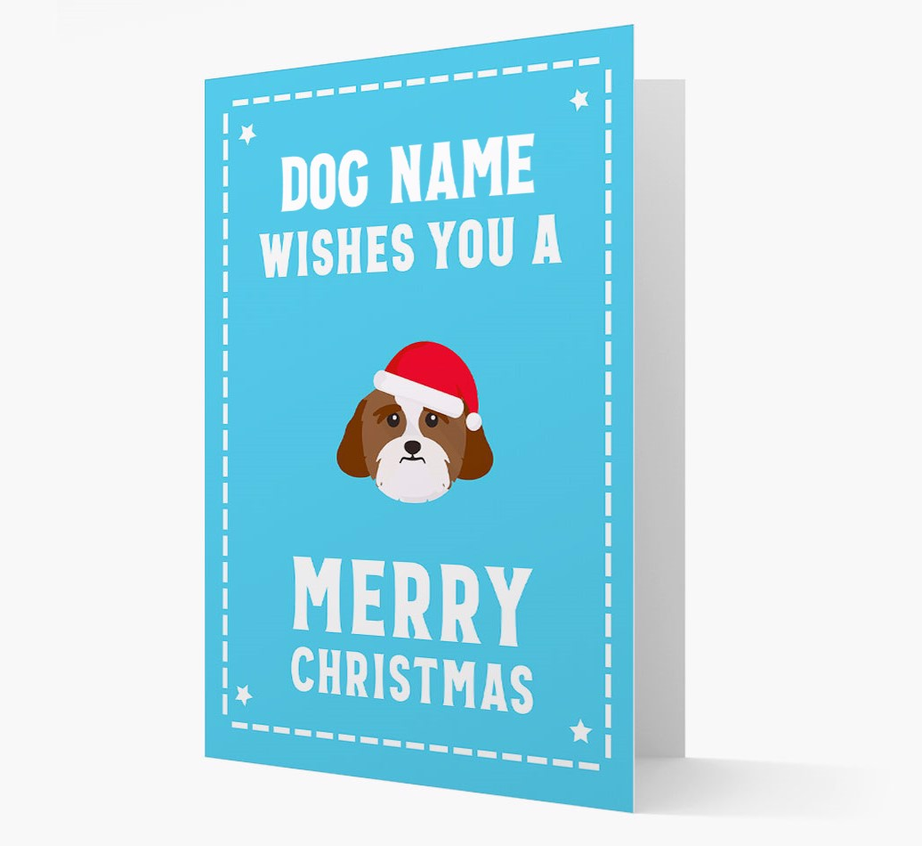 'Christmas Wishes' Card with your Lhasa Apso Christmas Icon