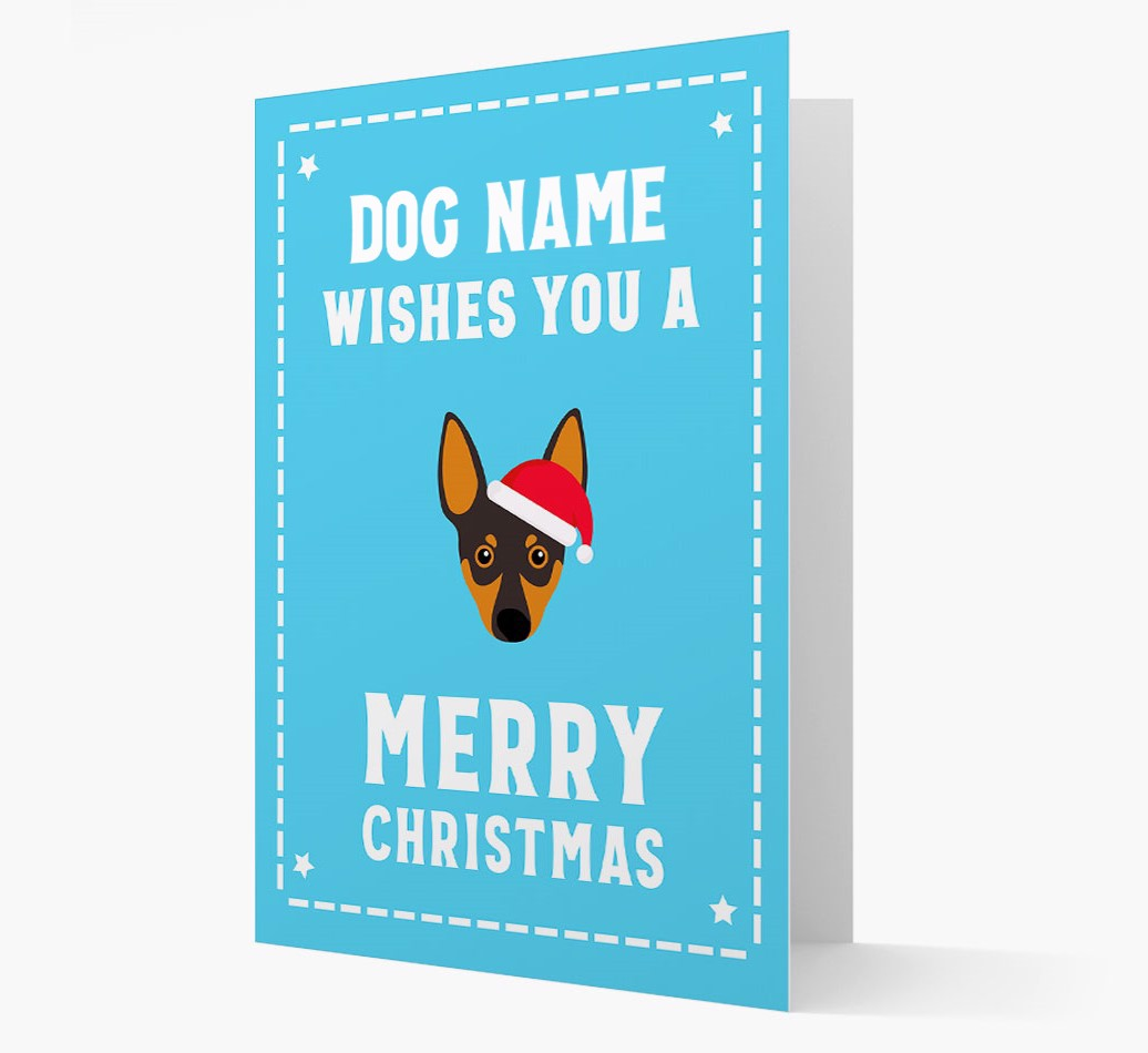 'Christmas Wishes' Card with your Miniature Pinscher Christmas Icon