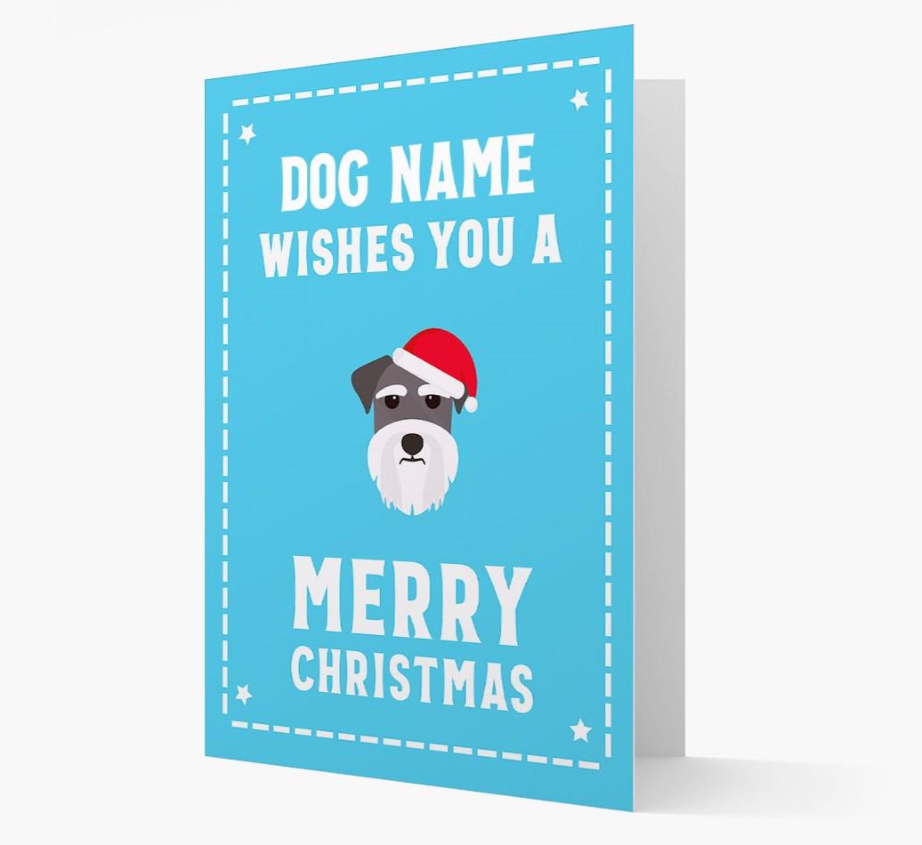 'Christmas Wishes' Card with your Miniature Schnauzer Christmas Icon