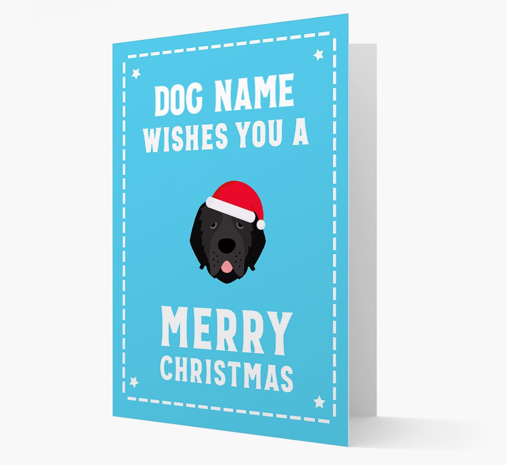 'Christmas Wishes' Card with your Newfoundland Christmas Icon