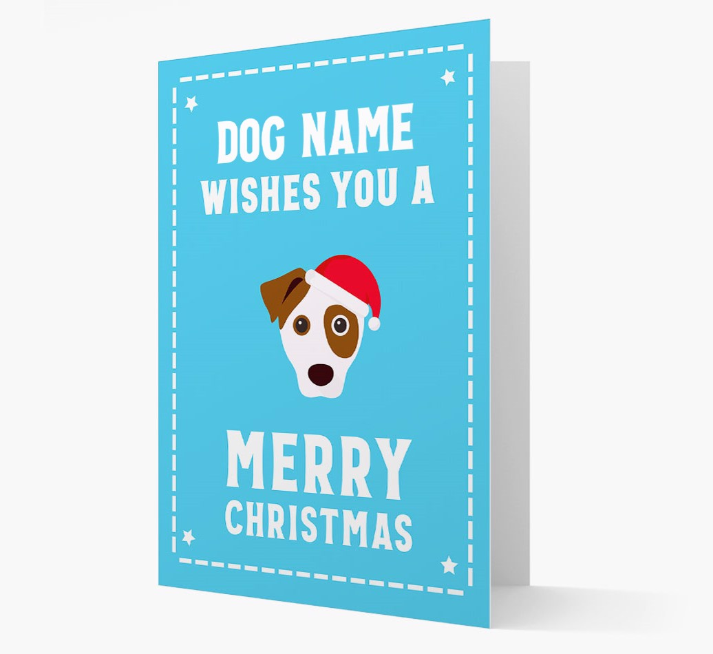 'Christmas Wishes' Card with your Parson Russell Terrier Christmas Icon