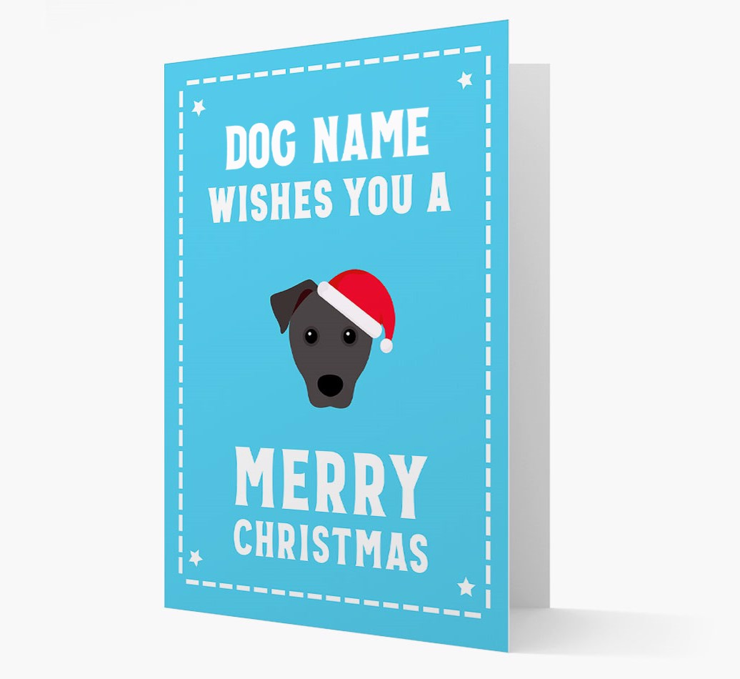 'Christmas Wishes' Card with your Patterdale Terrier Christmas Icon