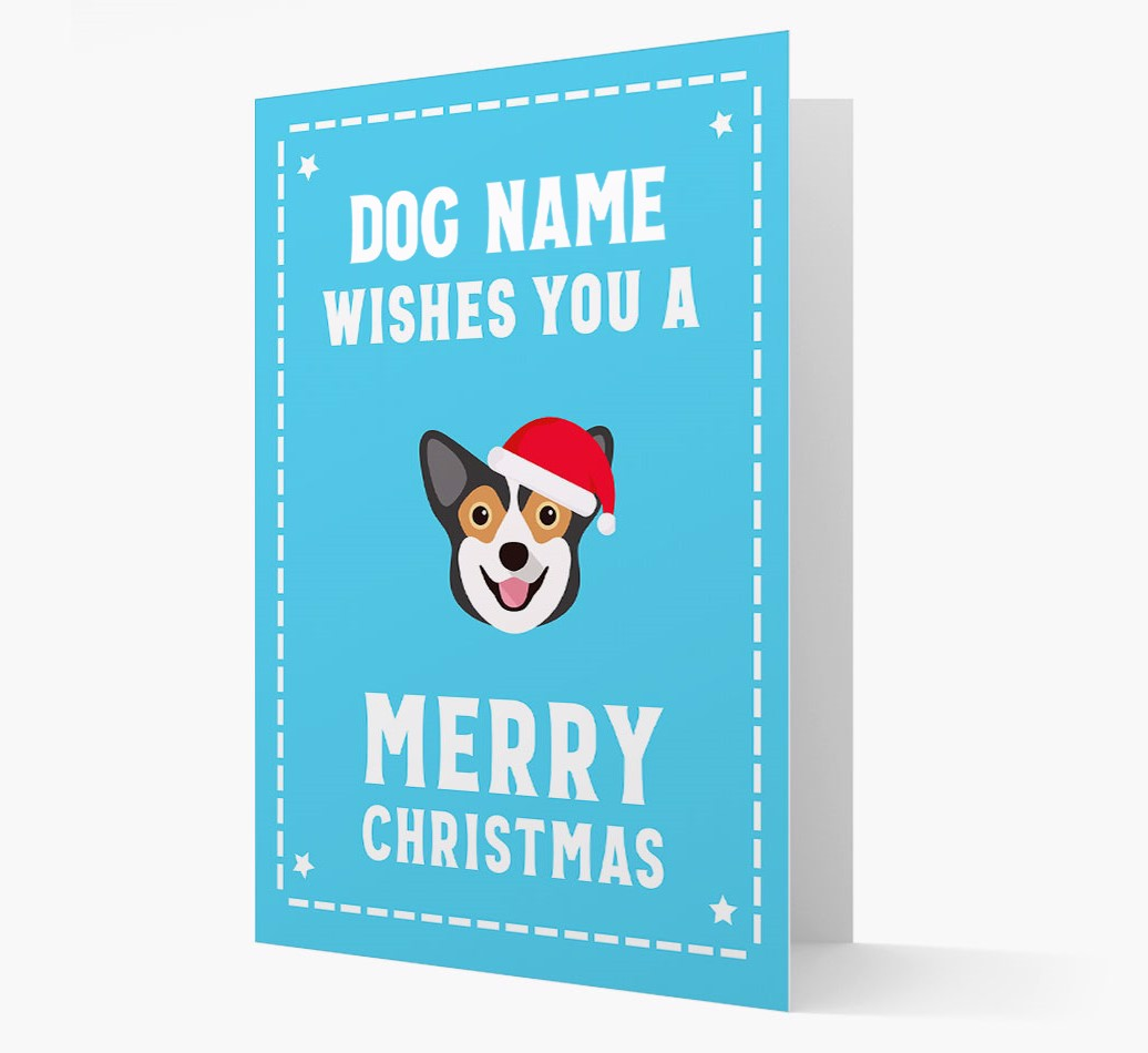 'Christmas Wishes' Card with your Pembroke Welsh Corgi Christmas Icon