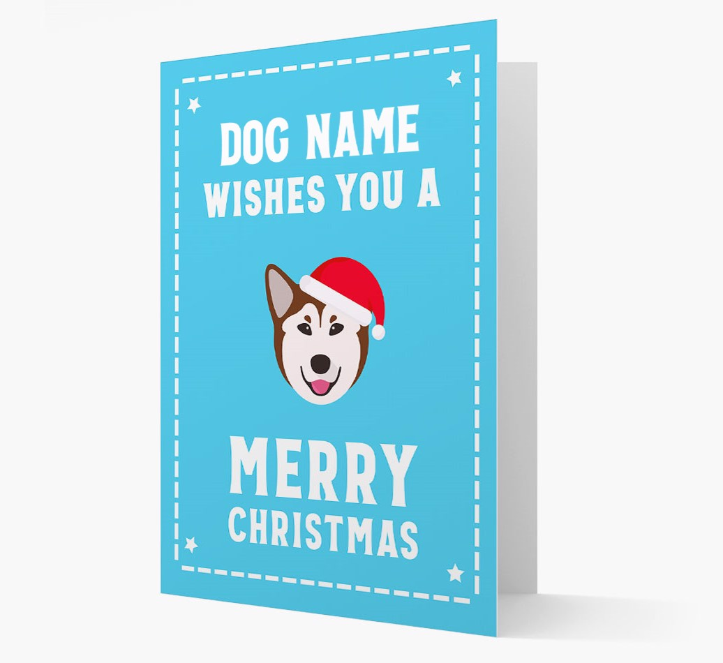 'Christmas Wishes' Card with your Rescue Dog Christmas Icon