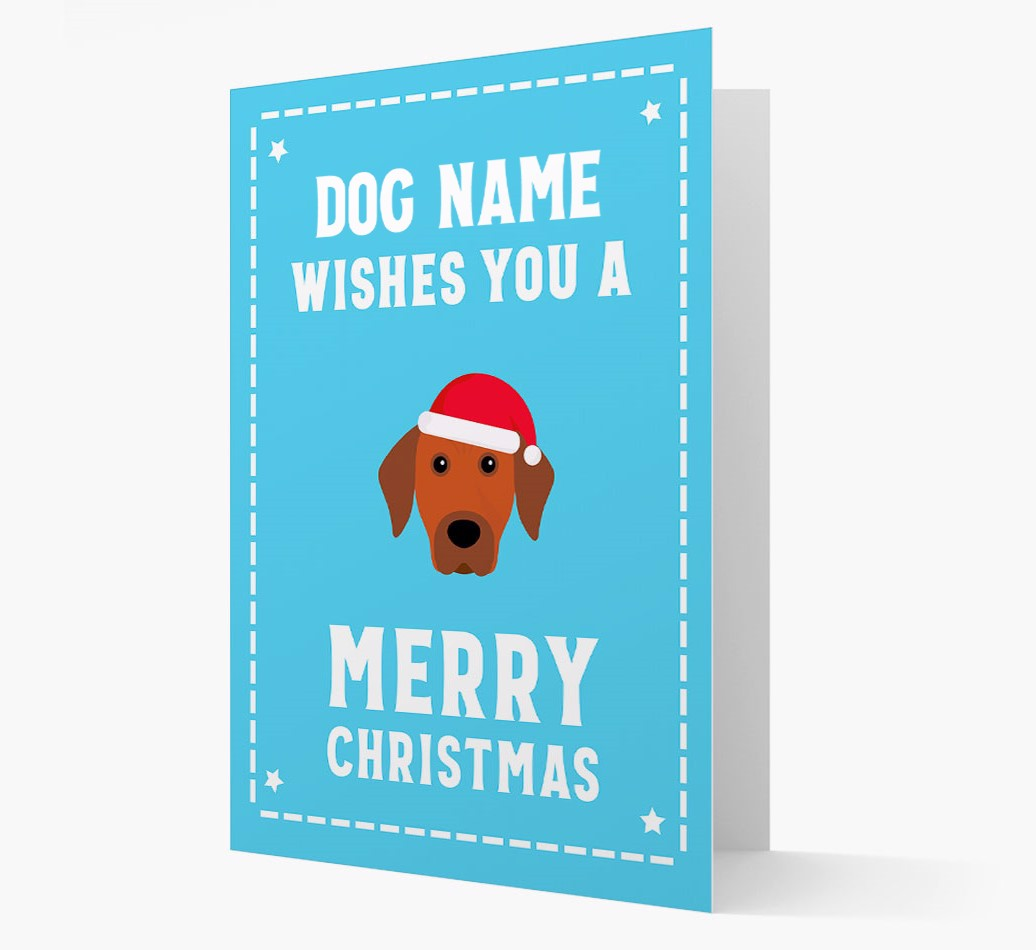 'Christmas Wishes' Card with your Rhodesian Ridgeback Christmas Icon