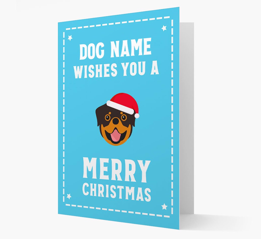 'Christmas Wishes' Card with your Rottweiler Christmas Icon