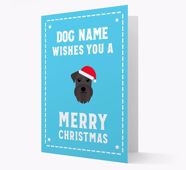 'Christmas Wishes' Card with your Schnauzer Christmas Icon
